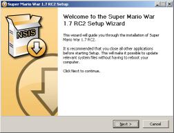 Super Mario War 1.7 RC2 Installer Screenshot